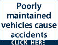 Poorly maintained vehicles cause accidents. Book yours in for a professional service now