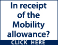In receipt of the Mobility allowance? You may be entitled to a brand new car even if you cannot drive yourself. Contact a local Motability garage today. Motability, the leading car scheme for disabled people
