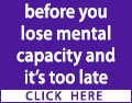 1 person in the UK develops dementia every 5 minutes. Take action - set up a Continuing and Welfare Power of Attorney before you lose mental capacity and it's too late. Contact a local solicitor for advice and assistance today